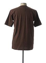 T-shirt manches courtes marron DANIEL HECHTER pour homme seconde vue