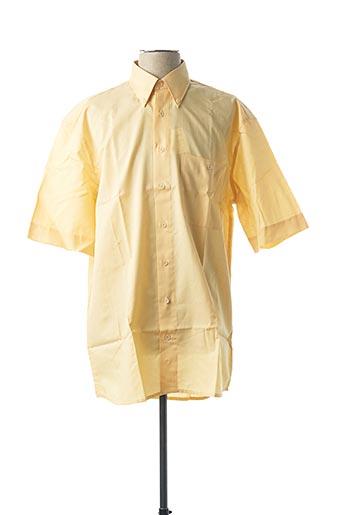 Chemise manches courtes jaune JUPITER pour homme