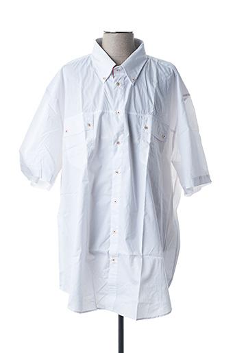 Chemise manches courtes blanc BRAND pour homme
