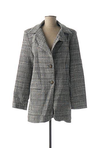 Manteau long gris DENIM &DRESS pour femme