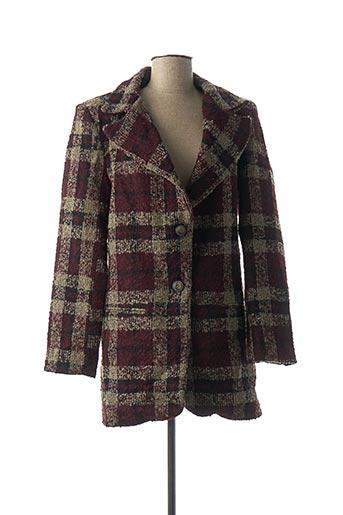 Manteau long rouge DENIM &DRESS pour femme