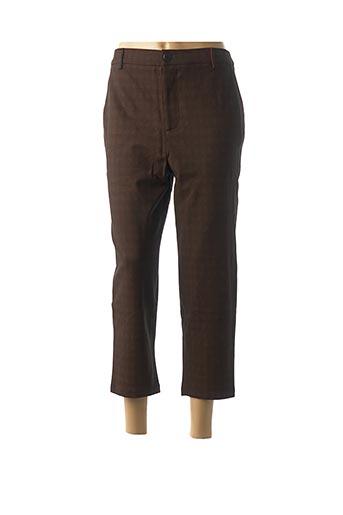 Pantalon 7/8 marron DENIM &DRESS pour femme