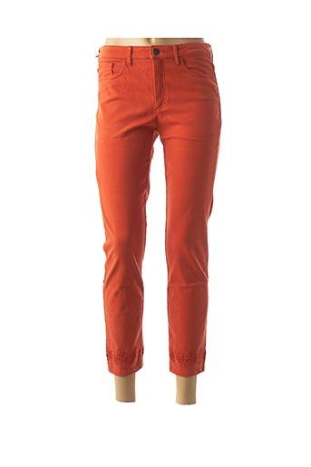 Pantalon 7/8 orange DENIM &DRESS pour femme