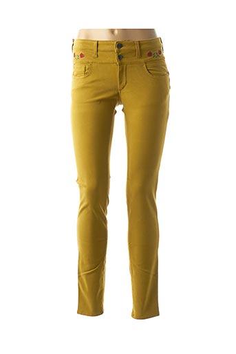 Pantalon casual jaune DENIM &DRESS pour femme