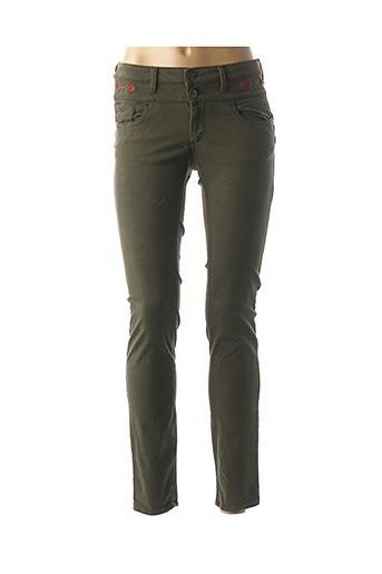Pantalon casual vert DENIM &DRESS pour femme