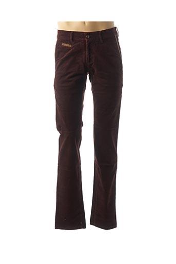 Pantalon casual rouge COUTURIST pour homme