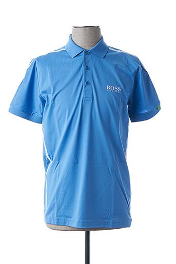 Polo manches courtes bleu HUGO BOSS pour homme