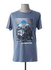 T-shirt manches courtes gris HUGO BOSS pour homme seconde vue