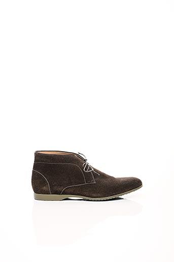 Bottines/Boots marron HUGO BOSS pour homme