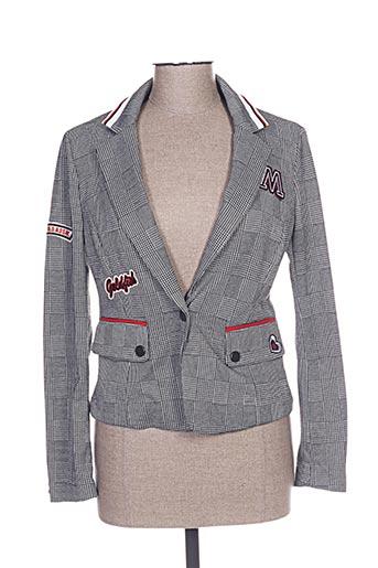 Veste chic / Blazer gris LESLIE pour femme