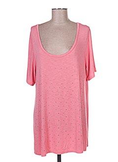 T-shirt manches courtes rose FUEGOLITA pour femme