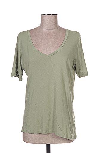 T-shirt manches courtes vert YAYA pour femme
