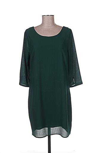 Robe mi-longue vert CERISE BLUE pour femme