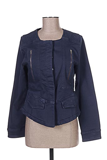 Veste casual bleu CARLA KOPS pour femme