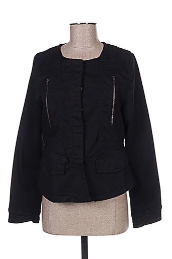 Veste casual noir CARLA KOPS pour femme