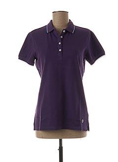 Polo manches courtes violet COLMAR pour femme