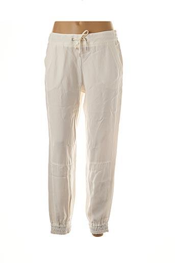 Pantalon casual blanc IKKS pour femme