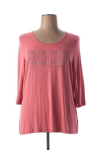 T-shirt manches longues rose LEBEK pour femme