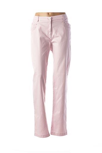 Pantalon casual rose CHRISTINE LAURE pour femme