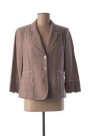 Veste chic / Blazer marron JEAN DELFIN pour femme