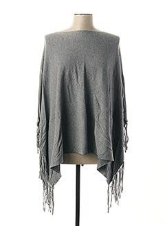 Poncho gris EVIS pour femme