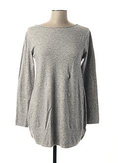 Pull tunique gris PPT pour femme