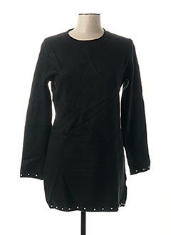 Pull tunique noir EVIS pour femme
