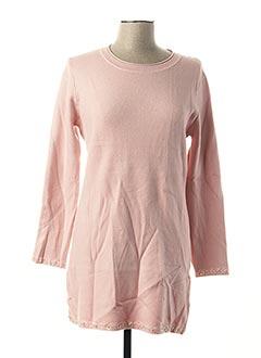 Pull tunique rose EVIS pour femme