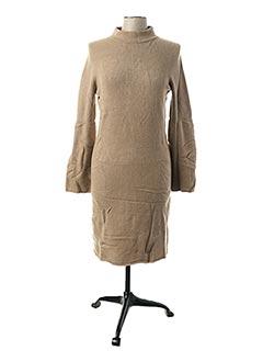 Robe pull beige LAUREN VIDAL pour femme