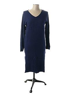 Robe pull bleu PPT pour femme