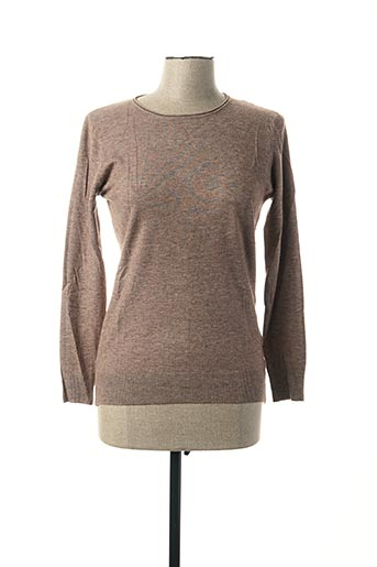 Pull col rond beige FAMOSA pour femme