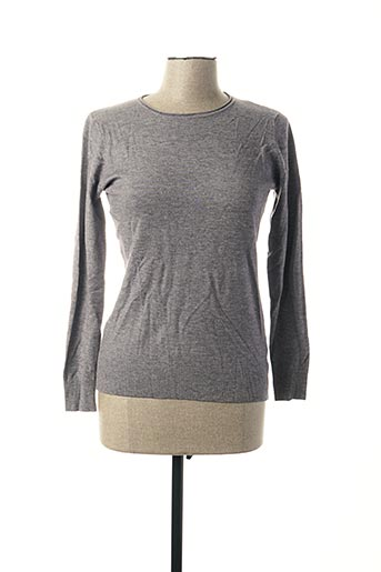 Pull col rond gris FAMOSA pour femme