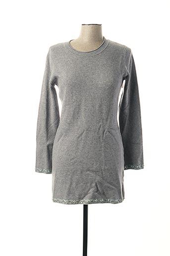 Pull tunique gris EVIS pour femme