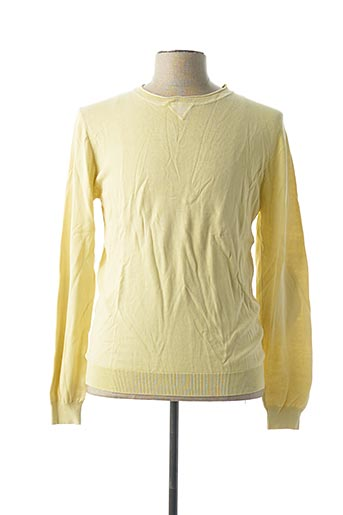 Pull col rond jaune ENOS & CO pour homme