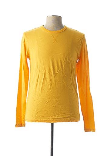 T-shirt manches longues jaune BRAVE SOUL pour homme