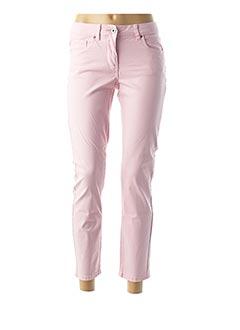 Pantalon 7/8 rose BRANDTEX pour femme