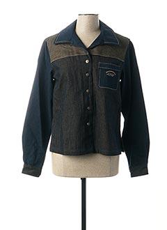 Veste en jean bleu LES MARINS DE JAC JAC pour femme