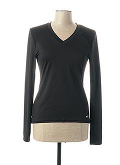 T-shirt manches longues noir SHOCK ABSORBER pour femme