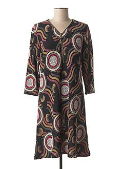 Robe mi-longue noir ATLANTA pour femme