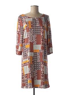 Robe mi-longue orange TOM TAILOR pour femme