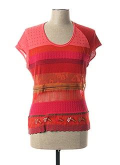 T-shirt manches courtes rose ALDO MARTIN'S pour femme