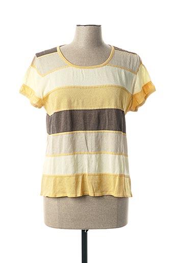 T-shirt manches courtes jaune ALDO MARTIN'S pour femme