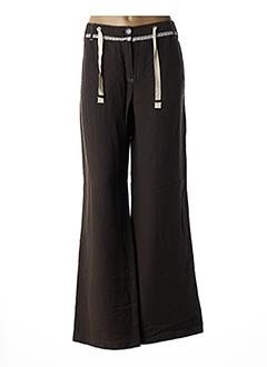 Pantalon chic marron BLEU DE SYM pour femme