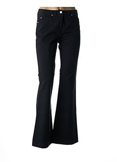 Pantalon casual noir GINA B HEIDEMANN pour femme