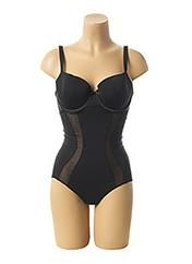 Body lingerie noir GEMMA pour femme seconde vue