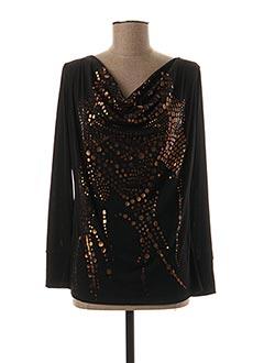 T-shirt manches longues noir EDAS pour femme