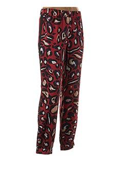 Pantalon casual rouge EDAS pour femme