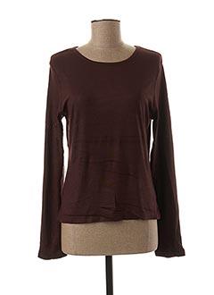 T-shirt manches longues marron JAC JAC pour femme