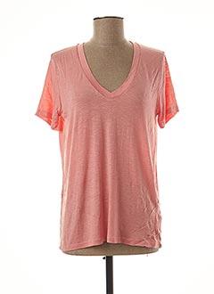 T-shirt manches courtes rose AN' GE pour femme