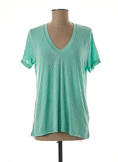 T-shirt manches courtes vert AN' GE pour femme
